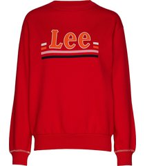 logo sws sweat-shirt trui rood lee jeans