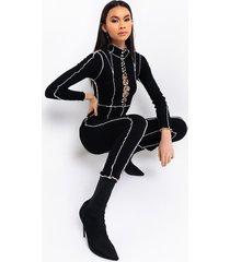 akira state of mind lace up jumpsuit