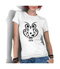 camiseta criativa urbana coruja tribal