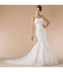famous design david bridal wedding dresses mermaid fish tail slim lace gown us 6