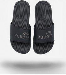 klapki kubota basenowe pro czarne metaliczne logo