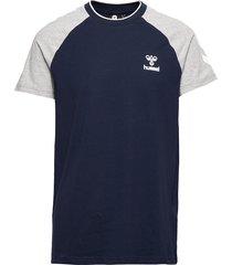 hmlmark t-shirt s/s t-shirts short-sleeved blå hummel