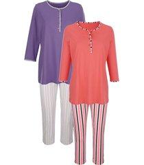 pyjama's per 2 stuks harmony koraal::paars
