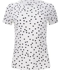 camiseta mujer m/c lunares