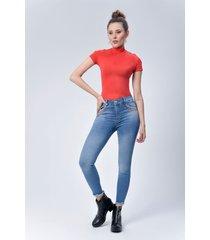 pantalón jeans dama azul di bello jeans ® classic jeans ref j110