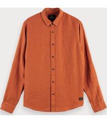 scotch & soda linnen overhemd | regular fit