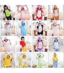 hot summer unisex kigurumi anime cosplay pajamas onesie sleepwear short sleeve