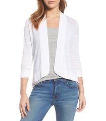 women's tommy bahama lea linen cardigan, size small - white