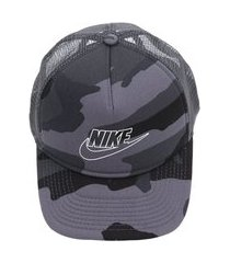 boné nike sportswear u nsw clc99 cap camo trucker cinza