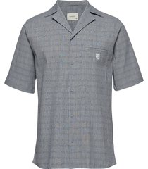 bowling short sleeve shirt overhemd met korte mouwen grijs tonsure