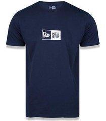 camiseta new era logo box masculina