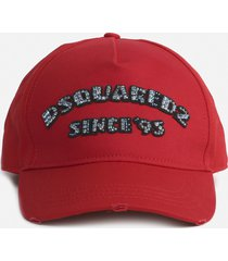dsquared2 cotton baseball cap with logo