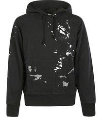 helmut lang standard printed detail hoodie