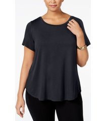 alfani plus high-low t-shirt, created for macy's
