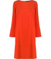 gianluca capannolo boat neck midi dress - orange