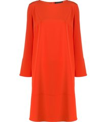 gianluca capannolo boat neck midi dress - orange