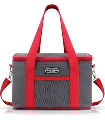 bolsa térmica tam. g lisa retangular jacki design urbano vermelho .