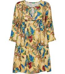 dress kort klänning gul united colors of benetton