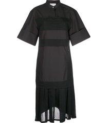 3.1 phillip lim pleated-hem midi dress - black