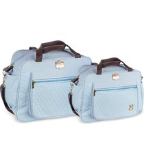 kit bolsas bebê maternidade azul claro infant 2 peças griff