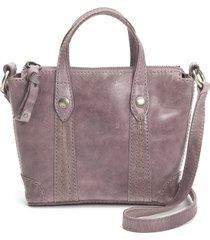 frye melissa mini leather crossbody shopper - purple
