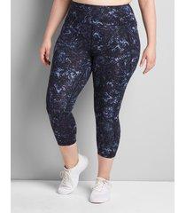 lane bryant women's livi high-rise livi soft capri legging with pockets 30/32 snake print
