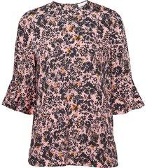 prt peplum slv blous blouse lange mouwen roze calvin klein