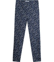 pantalon mujer mini flores color azul, talla 10