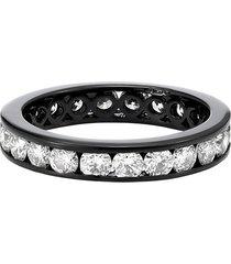 777 18kt gold diamond ring - 101 - black: