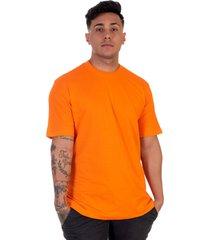camiseta lucas lunny t shirt gola redonda laranja - laranja - masculino - algodã£o - dafiti