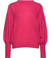 knit w. volume at sleeves stickad tröja rosa coster copenhagen