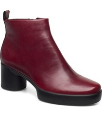 shape sculpted motion 35 shoes boots ankle boots ankle boot - heel röd ecco