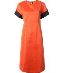 marni contrasting detail straight-fit dress - orange