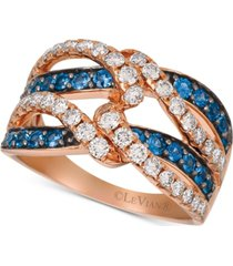 le vian blueberry sapphire (5/8 ct. t.w.) & diamond (7/8 ct. t.w.) ring in 14k rose gold