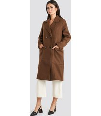 na-kd trend big pocket coat - brown