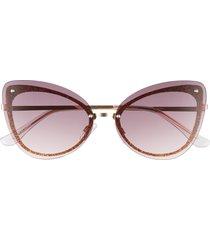 women's bp. glitter 56mm rimless cat eye sunglasses -