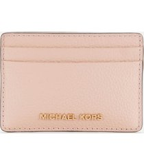 michael michael kors women's jet set card holder - soft pink