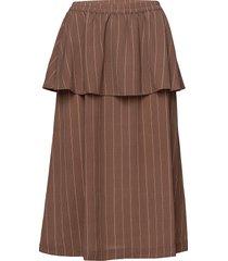 ross-sk knälång kjol brun storm & marie