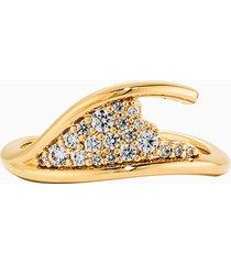 anello semplice gilded treasures, bianco, placcato color oro