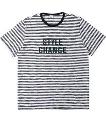 camiseta tradicional malha listrada wee! preto - p