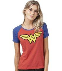 camiseta bandup! raglan wonder woman logo