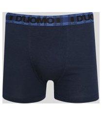 cueca masculina duomo boxer de algodão azul marinho