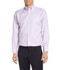 men's big & tall nordstrom smartcare(tm) classic fit dress shirt, size 16 - 36/37 - purple