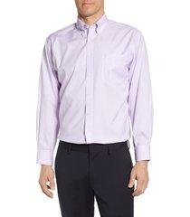 men's big & tall nordstrom smartcare(tm) classic fit dress shirt, size 19.5 - 38/39 - purple