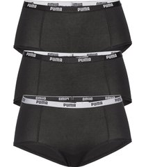 puma mini short 3p pack lingerie panties hipsters/boyshorts/brazilian svart puma