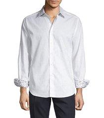 robert graham men's long-sleeve contrast button-down shirt - white - size xl