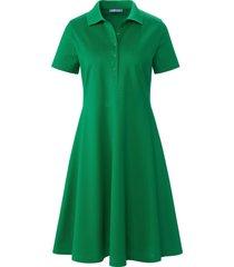 jurk van 100% katoen met korte mouwen en polokraag van day.like groen