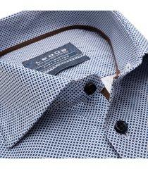 ledȗb heren overhemd navy stippen widespread ml7 modern fit