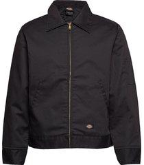 lined eisenhower jacket tunn jacka svart dickies