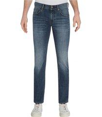 jeans denton elásticos  corte recto gris tommy hilfiger
